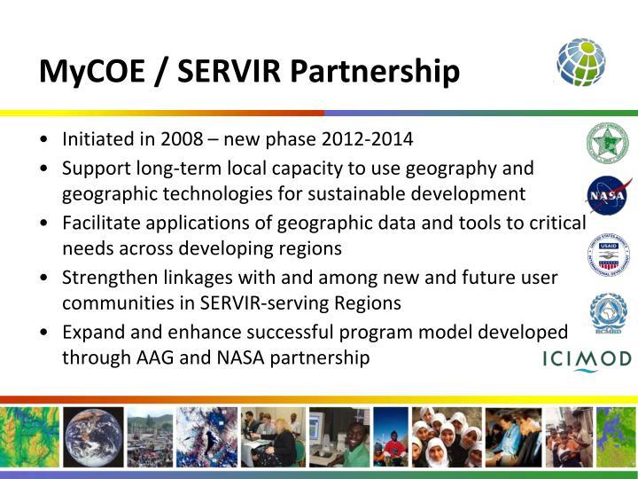 MyCOE / SERVIR Partnership