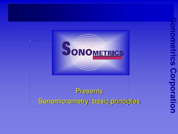 presents sonomicrometry basic principles n.