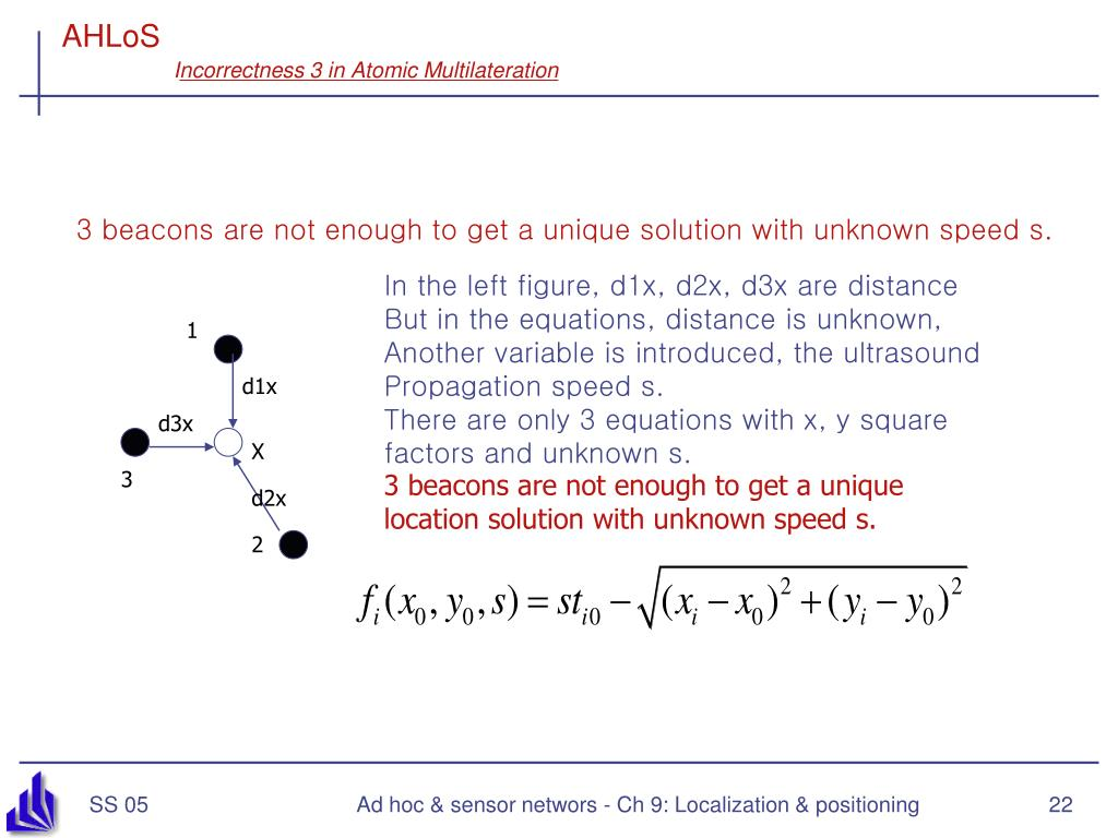 PPT - Ad hoc and Sensor Networks Chapter 9: Localization