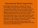 educational work experience