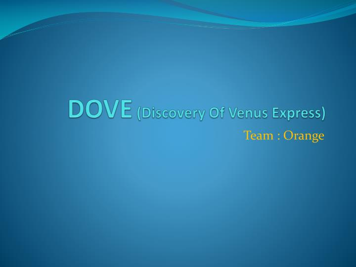 dove discovery of venus express n.