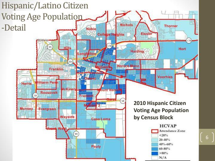 Hispanic/Latino Citizen Voting Age Population