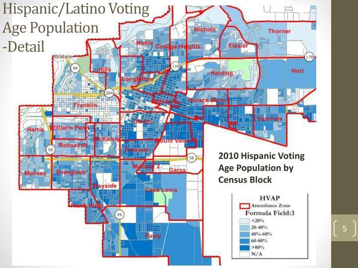 Hispanic/Latino Voting Age Population
