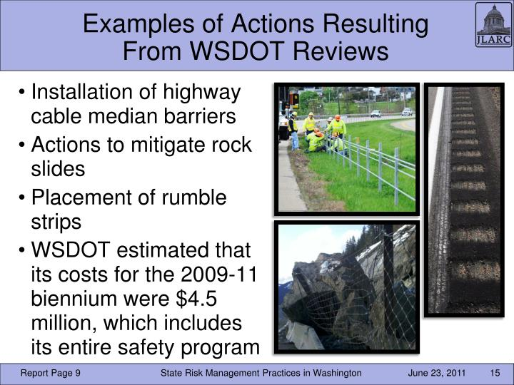 Examples of Actions Resulting