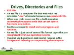 drives directories and file s9