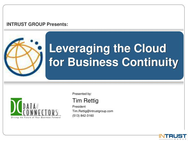 leveraging the cloud for business continuity n.