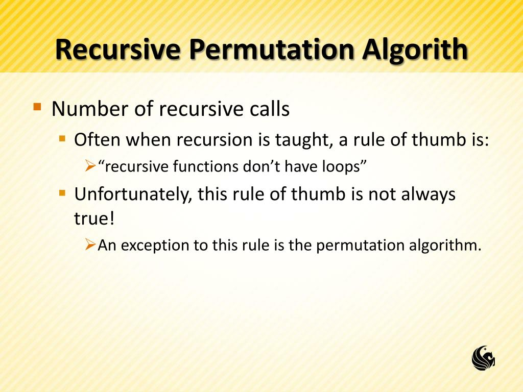 PPT - More Recursion: Permutations and Towers of Hanoi PowerPoint