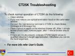 ct25k troubleshooting