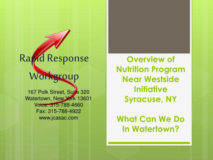 overview of nutrition program near westside initiative syracuse ny what can we do in watertown n.
