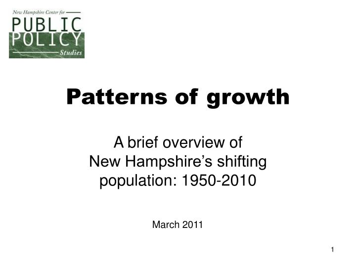 patterns of growth n.
