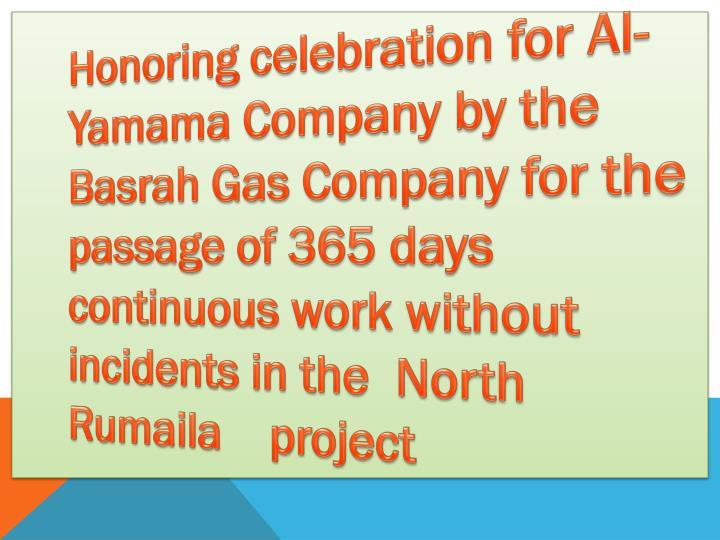 Honoring celebration for Al-