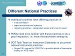 different national practices