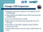 foreign vos inspection