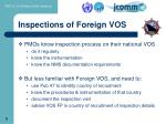inspections of foreign vos