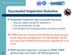 successful inspection outcome