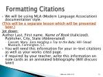 formatting citations