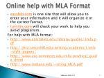 online help with mla format