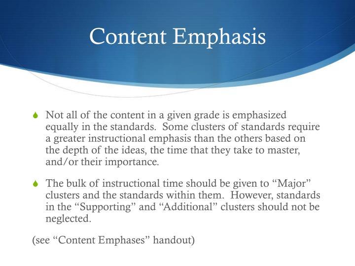 Content Emphasis