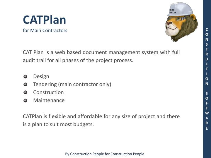 PPT - CATPlan for Main Contractors PowerPoint Presentation