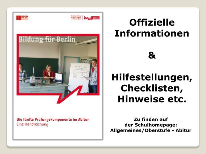 Offizielle Informationen