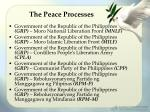 the peace processes