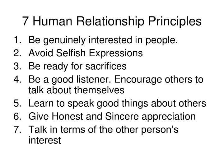 7 Human Relationship Principles