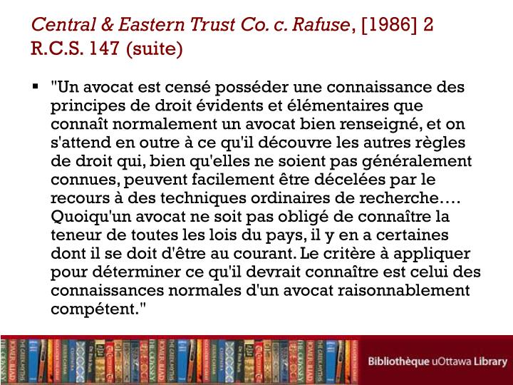 Central & Eastern Trust Co. c. Rafuse
