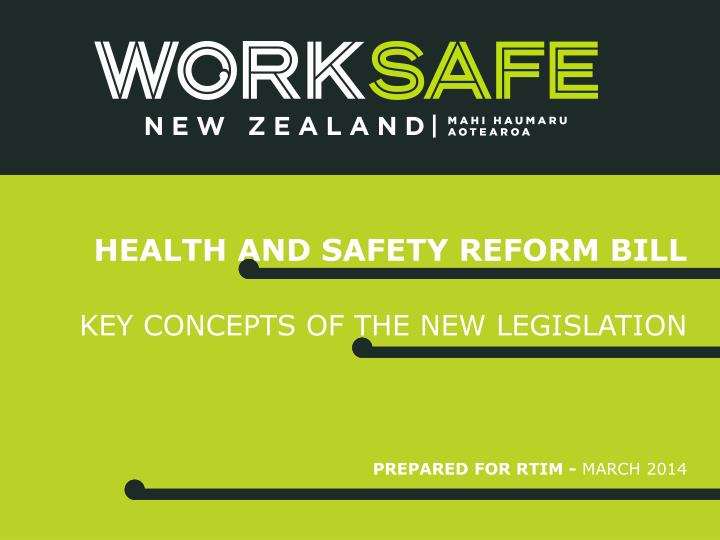 health and safety reform bill n.