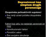 depresivnost kao simptom drugih poreme aj a