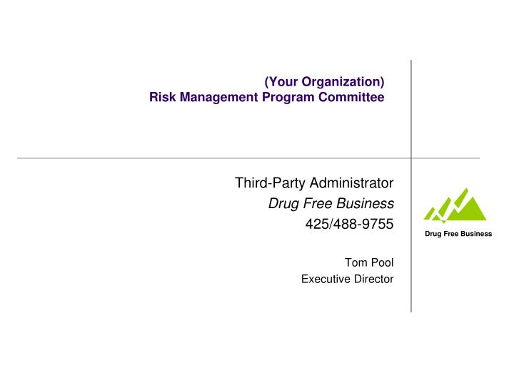 your organization risk management program committee n.