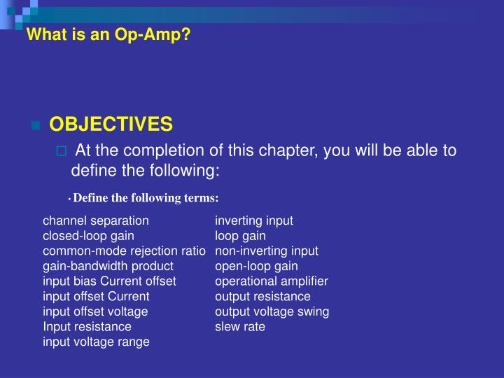 What is an op amp1