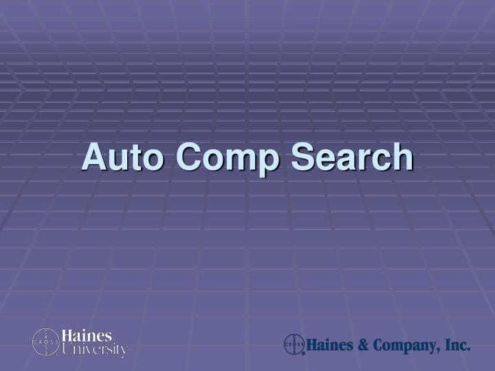 auto comp search n.