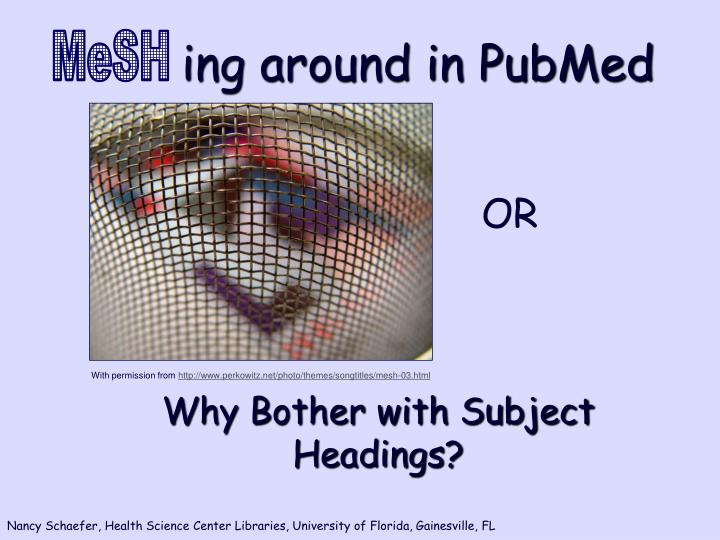 ing around in pubmed n.