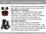 auc analytical ultracentrifugation