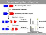 cross linking the interaction