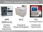 measure quantitative properties