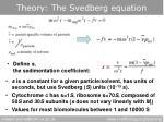 theory the svedberg equation1