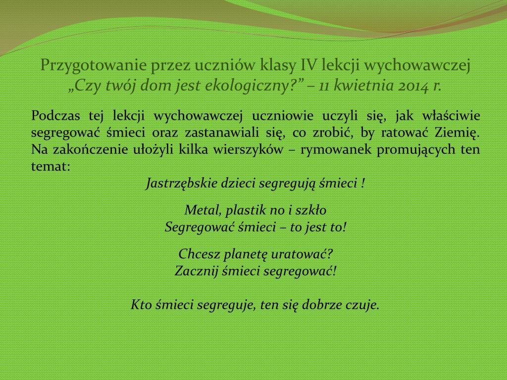 Ppt Czysta Małopolska Projekt Ekologiczny Powerpoint