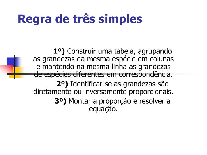 Regra de tr s simples1