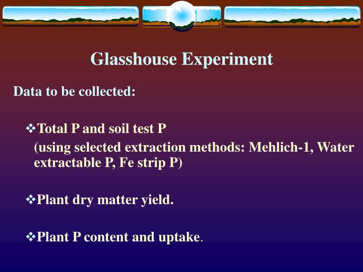 Glasshouse Experiment