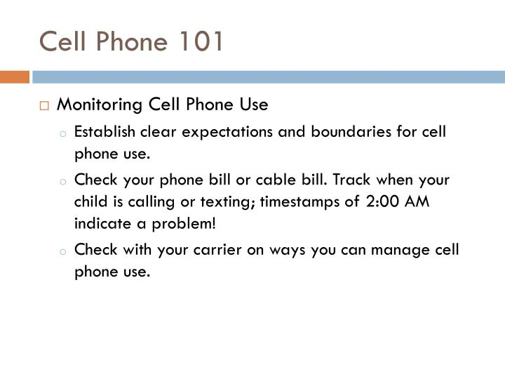 Cell Phone 101