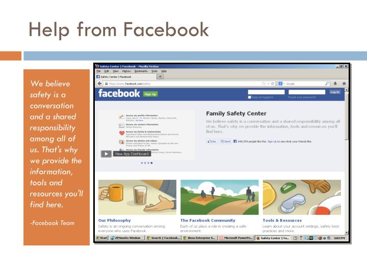 Help from Facebook