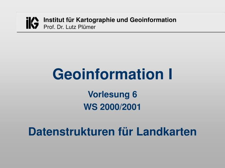 geoinformation i n.