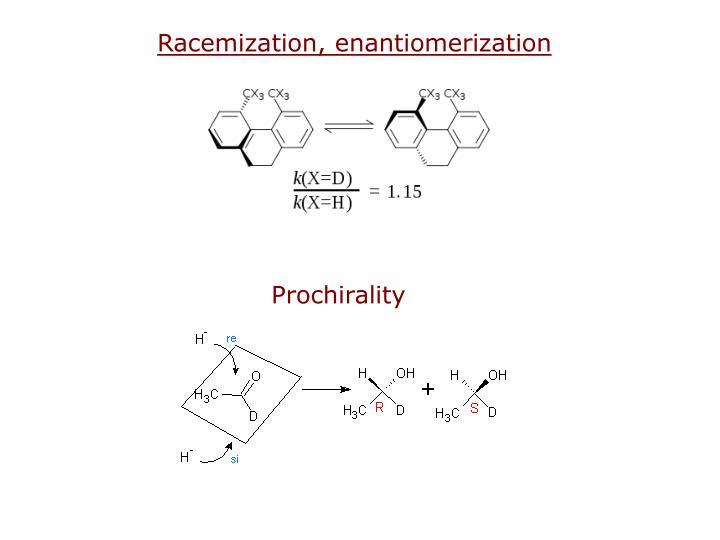 Racemization, enantiomerization