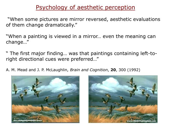 Psychology of aesthetic perception