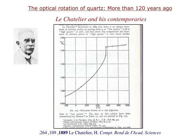 The optical rotation of quartz: More than 120 years ago