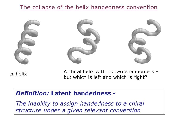 The collapse of the helix handedness convention