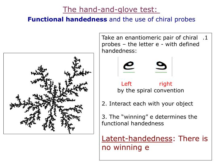 The hand-and-glove test: