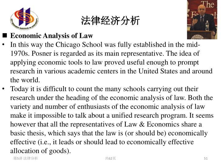 法律经济分析