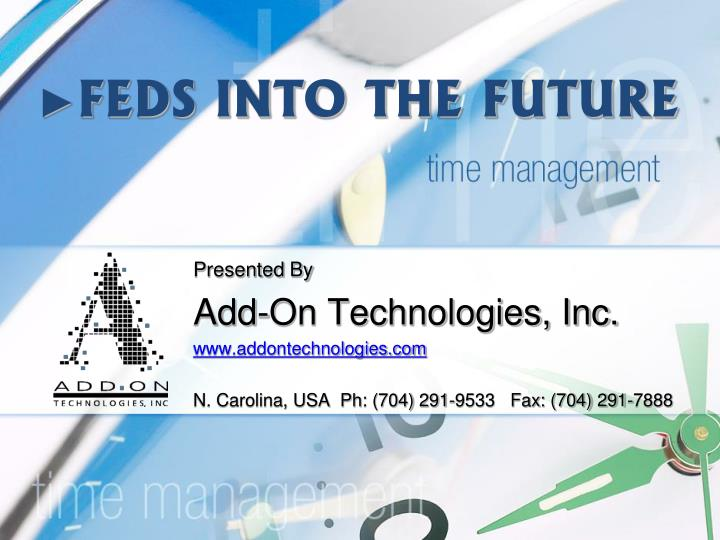 feds into the future n.